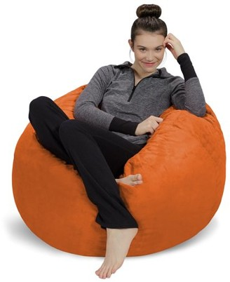 Sofa Sack 3' Passion Suede Bean Bag Chair, Multiple Colors
