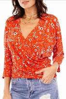 Veronica M Floral Wrap Top