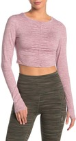 Free People Fp Movement Swerve Long Sleeve Ruched Crop Top