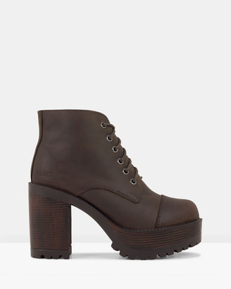 ROC Boots Australia - Women's Brown Lace-up Boots - Pampas - Size One Size, 38 at The Iconic
