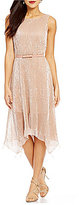 Eva Franco Sequin Dip Hem Dress