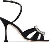 Manolo Blahnik Ticuna 105mm embellished-brooch sandals