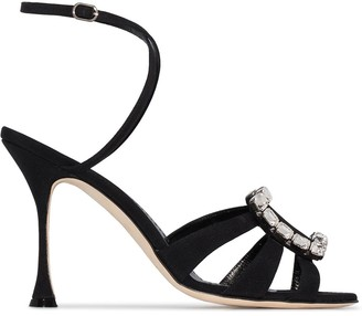 Manolo Blahnik Ticuna 105mm embellished-brooch sandals