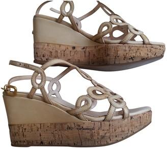 Prada Beige Patent leather Sandals