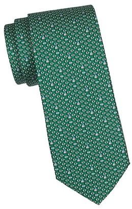 Salvatore Ferragamo Pencil Print Silk Tie