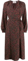 La DoubleJ leopard print wrap dress