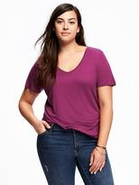 Old Navy Relaxed Plus-Size Drapey V-Neck Tee