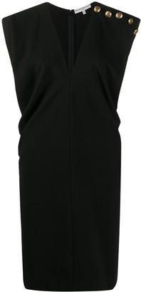 Givenchy decorative button V-neck dress