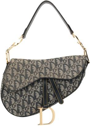 Christian Dior Pre-Owned Trotter pattern Saddle shoulder bag
