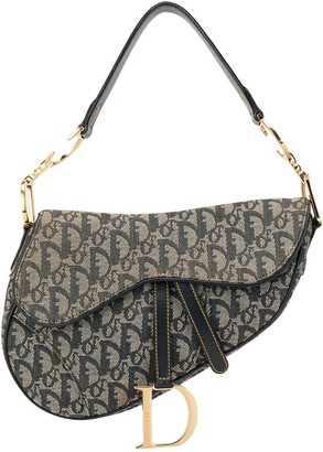 Christian Dior pre-owned Trotter pattern Saddle shoulder bag