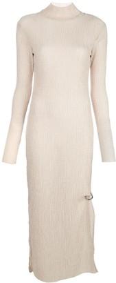 Nomia textured knit high-neck dress