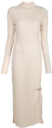 Nomia Textured Knit High-Neck Dress