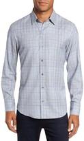 Zachary Prell Men's Johannes Slim Fit Plaid Sport Shirt