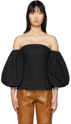 Edit SSENSE Exclusive Black Off-The-Shoulder Blouse