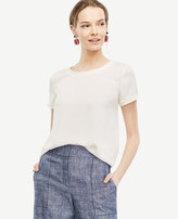 Ann Taylor Tall Piped Tee