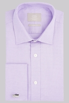 Savoy Taylors Guild Regular Fit Lilac Double Cuff Basketweave Texture Shirt
