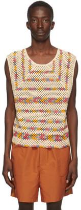 Bode Multicolor Crochet Knit Tank Top
