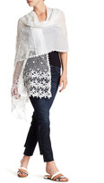 Betsey Johnson Woven Crochet Scarf