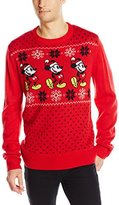 Disney Men's Mickey Pattern Sweater