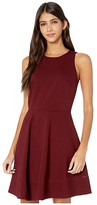 Kate Spade Ponte Fit-and-Flare Dress (Deep Fig) Women's Dress