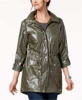 Style&Co. Style & Co Shiny Roll-Tab-Sleeve Anorak, Created for Macy's