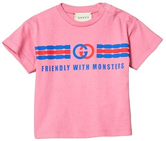 Gucci Kids Cotton Jersey w/ Logo Print T-Shirt (Infant) (Ortensia Bloom) Girl's Clothing
