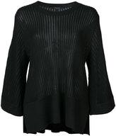 Derek Lam ribbed loose-fit blouse - women - Silk/Cashmere - L