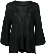 Derek Lam ribbed loose-fit blouse - women - Silk/Cashmere - M