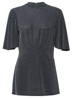 Dorothy Perkins Womens **Tall Silver Flutter Sleeve T