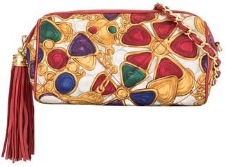 Chanel Pre-Owned 1986-1988 Bijou Print Fringe Chain Shoulder Bag