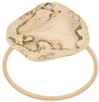 Pascale Monvoisin 9kt yellow gold Izia N2 ring