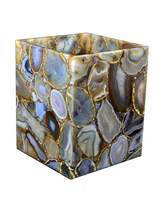 Mike and Ally Mike & Ally Taj Agate Wastebasket