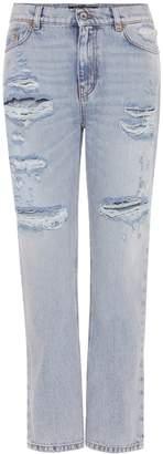 Dolce & Gabbana Embellished distressed jeans