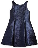 Zoe Girls' Metallic Jacquard Flared Dress - Sizes 7-16
