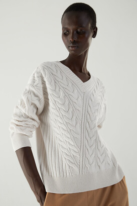 Cos Merino-Yak Wool Mix Cable Knit Jumper