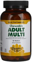 Country Life Adult Multi + Antioxidant Chewables, Citrus, 60 ct