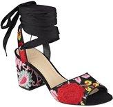 GUESS Women's Nanan Ankle Wrap Sandals