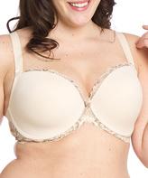 Naturana Almond Padded Lace Push-Up Bra - Plus