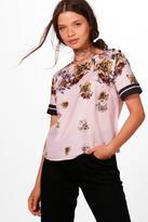 boohoo Holly Floral Crop Shirt