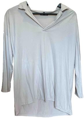 Scaglione Grey Cotton Top for Women