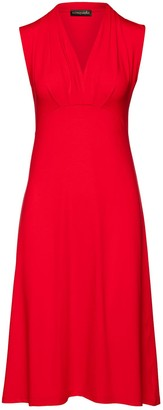Conquista Solid Colour Empire Line Sleeveless Dress