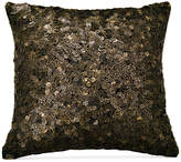 "Donna Karan Home Reflection Ebony 18"" Square Sequin Decorative Pillow Bedding"