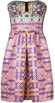 Mary Katrantzou geometric print bustier dress