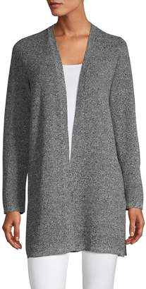 Eileen Fisher Long Silk Linen-Blend Cardigan
