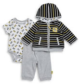 Offspring Baby Boys Zebra Jacket, Bodysuit and Pants Set