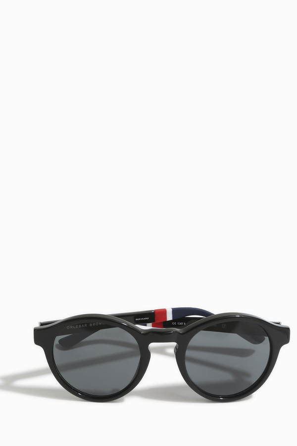 Orlebar Brown Rounded Keyhole Sunglasses