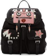 Prada Black Nylon Robot Backpack