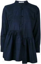Peter Jensen asymmetric frill smock - women - Cotton - M