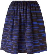 Jil Sander Navy pixel print A-line skirt