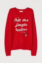 H&M Fine-knit Intarsia Sweater